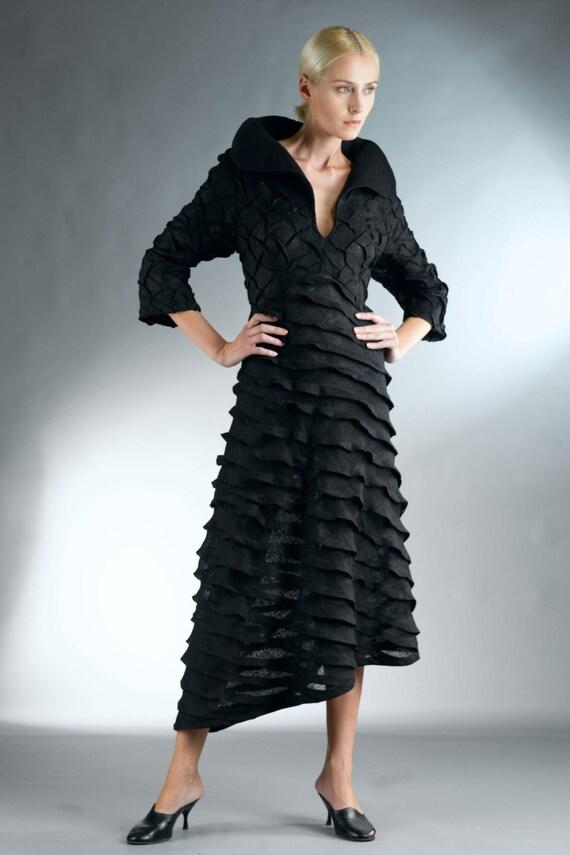 Items similar to Black Dress for Women / Linen Dress ...