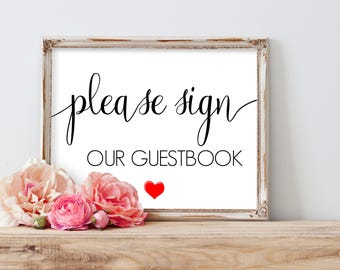 Please Sign our Guestbook Printable, Printable Guestbook Sign, Wedding Guestbook Sign, Guest Book Sign Printable, Printable Wedding Signs
