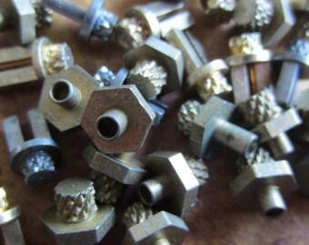 Vintage Brass Clock parts spindles - levers - Robot mix - Levers - Steampunk - Scrapbooking e88