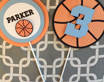 Basketball centerpiece, sports centerpiece