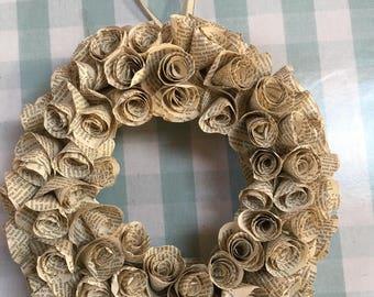 Medium Vintage Paper Wreath