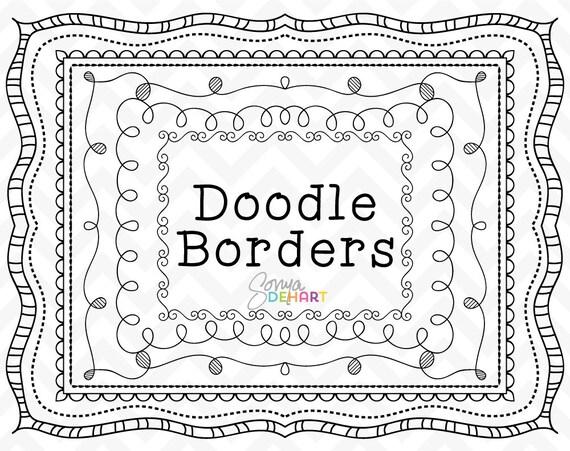 Doodle Clipart Doodle Frames Clipart Frames Doodle Borders