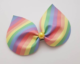 Rainbow,Bunny, Ears, Headband, Fabric, Bow, Glitter, Hair Accessories, Clips, Accessories, Hair, Ribbon, Bows.