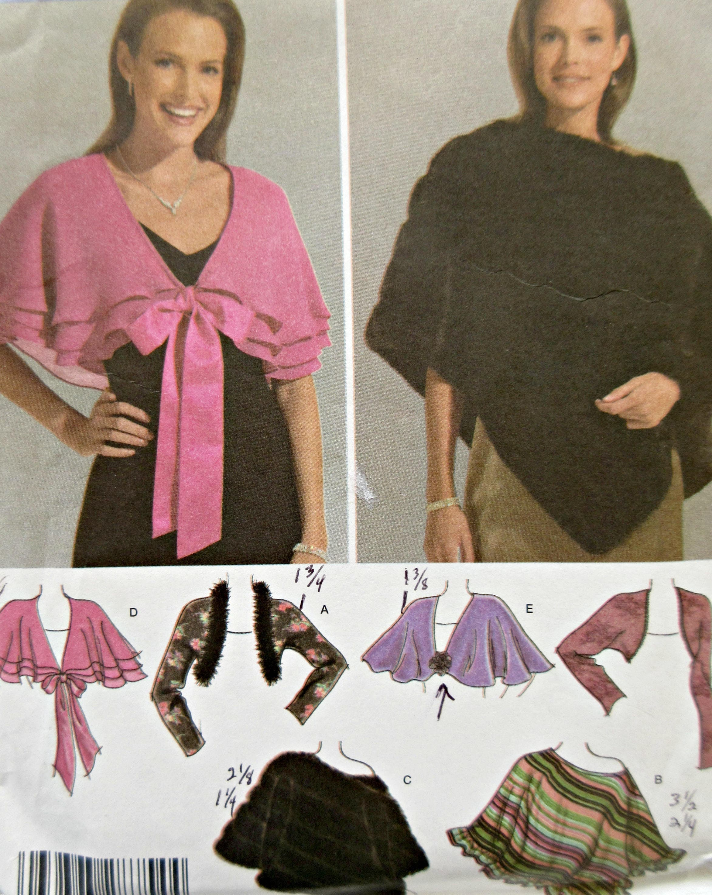 Simplicity 4742 Schnittmuster Schal Muster Cape und Wraps