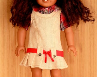 School Days outfit for 18 inch dolls such as American Girl