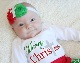 Christmas Dress Monogram Holiday Outfits Personalized Baby