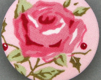 Covered button with mistletoe - the Rose - - diameter 40 mm - 40-04
