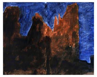 Chesler Park Evening, Utah Art Print