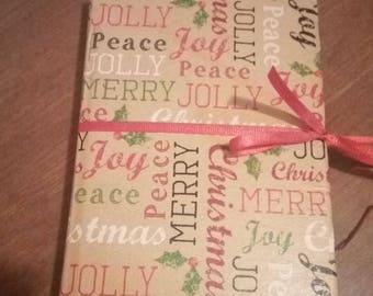 Handmade Christmas Writing or Junk Journal