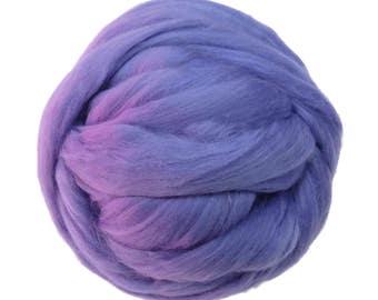 Merino / Silk  Roving, (Lilac)