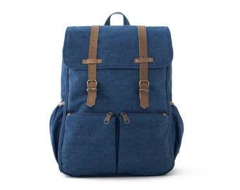 Diaper Bag Backpack, Backpack, Diaper Bag, School Bag, Mom & Dad Diaper Backpack,Travel Backpack, College Backpack, BLUE DENIM / CARRYALL