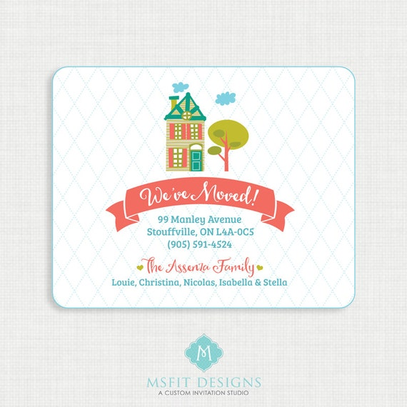 We've Moved New Address Announcement Card Custom Colors - 5x4