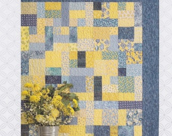 Yellow Brick Road, Atkinson Designs, DIY Quilt Pattern in 6 sizes, FQ Friendly