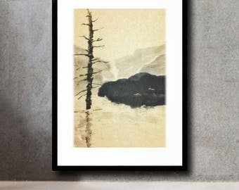 Japan 大正池 /ink wash painting