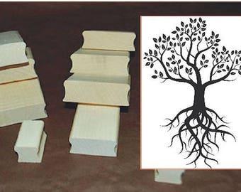 Stamp tree TC 213 5 x 7 cm or custom