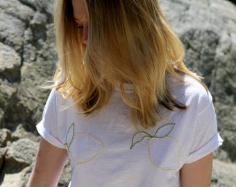 Hand Embroidered Custom Made T-Shirt