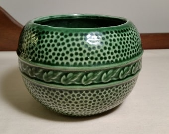 Vintage Green Glazed Pottery Bowl/Planter ~ ON SALE