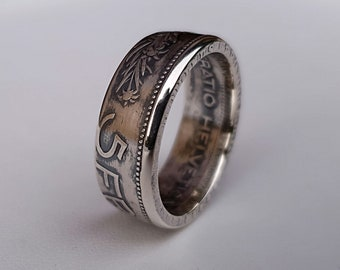 Ring coin 5 francs Swiss Silver (coin ring)