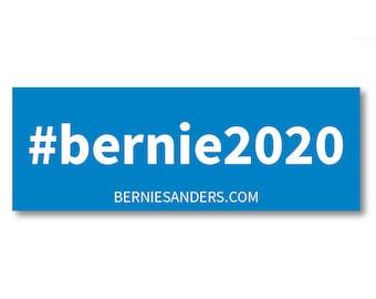 """1 Bernie Sanders """"#bernie2020"""" Vinyl Bumper Sticker"""