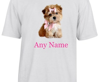 Personalised Puppy/Dog T Shirt  *Choice of name colours*