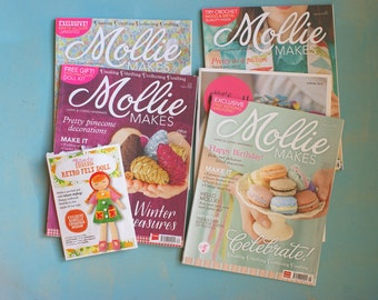 4 Mollie makes magazines English version - 4 issues