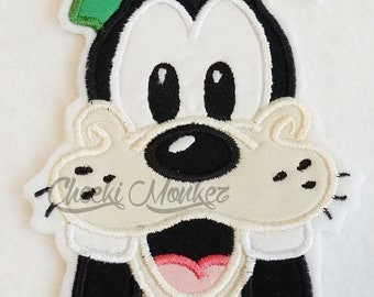 Ready to Ship RTS Boutique Custom goofy dog inspired embroidery Applique Iron On Patch DIY 5x7