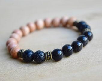 Obsidian Bracelet / protective gemstones, protection amulet, negativity shield, protective stones, group 13, group 14, group 15, group 16