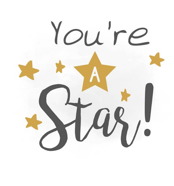 You are a Star SVG clipart Boys Quote Word Art Cutting File