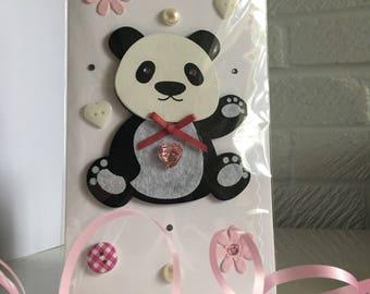 1st Birthday panda card