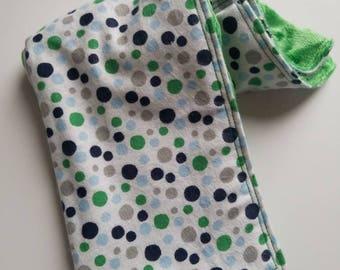 Security blanket/Lovie - Green Dots