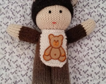 Brian - brown bear - baby in bear costume doll