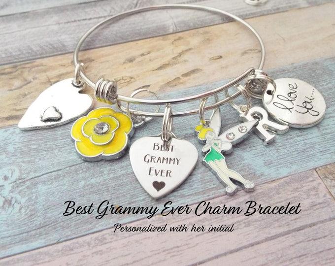 Best Grammy Ever Charm Bracelet, Gift for Grandmother, Grandmother Birthday, Birthday Gift for Grammy, Grandmother Gift, Personalized Gift