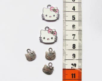 5 cute Kitty Cat charms