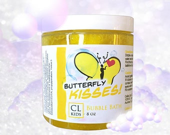 "Butterfly Kisses ""fresh pinapple"" bubble bath slime"
