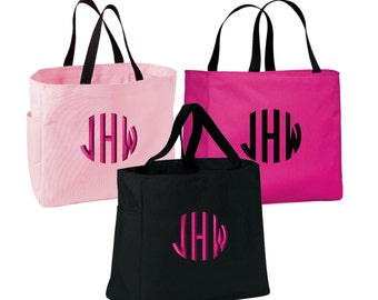 Set of 10 Bridesmaid Tote Bags, Bachelorette Party Tote Bags, Bridal Party Bags, Bachelorette Totes, Bridesmaid Gifts, B0750