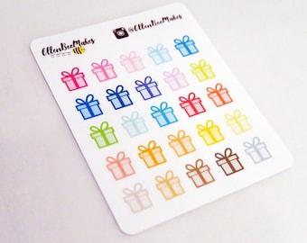 Rainbow Present Stickers