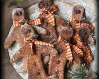 Primitive Grungy Gingerbread Boys ~ E-Pattern Download