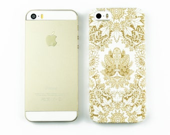 Gold and White iPhone 6S Case, Bohemian iPhone 6 Case, Gold iPhone 5S Case, Boho iPhone 6 Plus Case