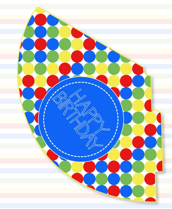 Magic image with party hat templates printable