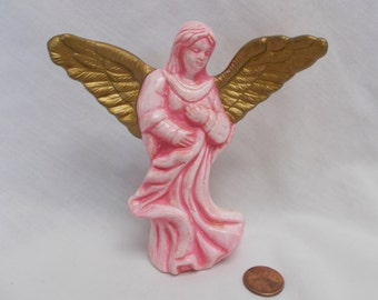 Pink Angel Figure-painted ceramic bisque