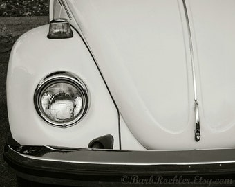 Vintage Bug - Rustic Wall Art - Car Art Prints - Black & White - Retro Print - Vintage Car Photography - Garage Art - VW - 8x10