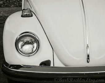 Vintage Bug - Rustic Wall Art - Car Art Prints - Black & White - Retro Print - Vintage Car Photography - Garage Art - VW - 8x10