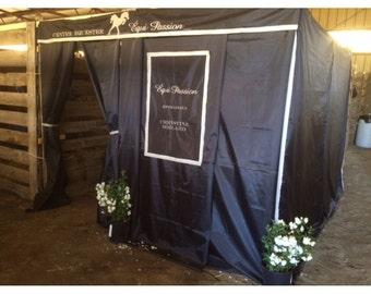 Custom Drapes for horse show | Custom Tack Drapes | Custom Stall Drapes | Custom Booth Drapes