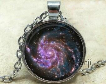 Galaxy pendant, spiral galaxy, Milky Way pendant, space art pendant, astronomy, galaxy necklace, NASA pendant, galaxy, Pendant #SP203P