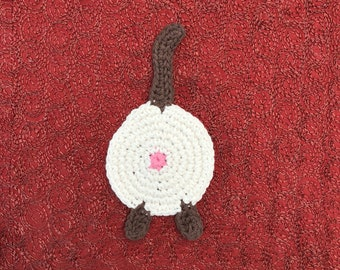 H Crochet Cotton Siamese Cat Butt Coaster Cat Lady Humor kitty chocolate point Siamese brown tail socks paws