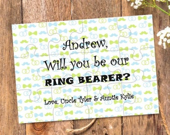 Will You Be Our Ring bearer, Will You Be my Ring bearer, Ring bearer Puzzle, Ring bearer Proposal, puzzle, Ring bearer Card, Ask Ring bearer