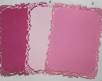 8 Rectangle Ornamental Tags/Frame Die Cuts Scrapbooking & Cardmaking Spellbinder