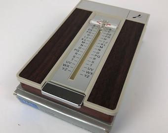 Vintage CARL Telephone List Finder Directory Metal Dial Up Address Book