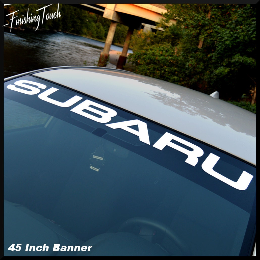 Subaru Decal Windshield Banner Sticker Vinyl Graphic Any Size