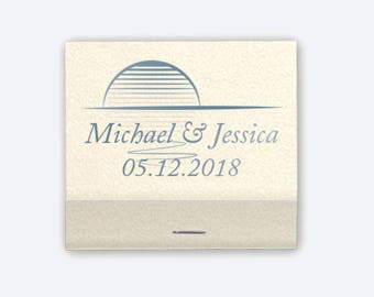 100 Custom Match Books - 30 Strikes - Wedding, Baby Shower, Birthday, Dinner Party or any Occasion! - Party Favors!